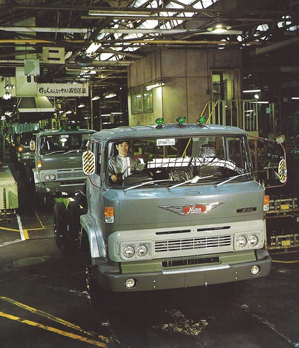 hino truck bus ads advertising brochure 1973