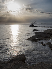 The day after (nicolamarongiu) Tags: veliero sardegna sabbia sailing disaster apocalipse sea sunset tramonto calasetta incagliato perspective prospettiva blue mare