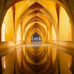 Baths in Alcazar Seville! #seville #spain (saadia_khans) Tags: sevilla light spain seville alcazar baths instagramapp square squareformat iphoneography ludwig