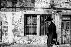old religion, old streets (ms_eyewitness) Tags: people jerusalem blackandwhite judaism streetphotography candid monochrome street