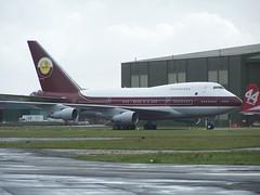 VP-BAT (IndiaEcho Photography) Tags: eghh boh bournemouth international vpbat boeing 747sp airport hurn dorset england