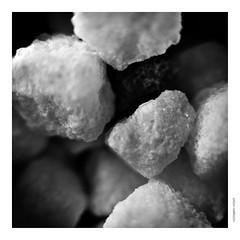 Sugar cubes. (tetleyboy) Tags: stillife mono blackandwhite squareformat frame dof editedindarktable 500px bnradical11