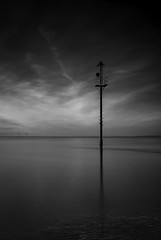 Sentinel (markrd5) Tags: seascape beach sea markerpost leasowe wirral leefilter longexposure nikon 1024mm