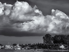 Clouds over Nokomis inlet (Tim Ravenscroft) Tags: nokomis clouds boat landscape florida monochrome blancwhite hasselblad x1d