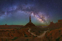 "Milky Way in Bears Ears (IronRodArt - Royce Bair (""Star Shooter"")) Tags: bearsears bearsearsnationalmonument valleyofthegods milkyway panorama castlebutte nightphotography nightscape nightscapes starrynightsky starrynight utah"