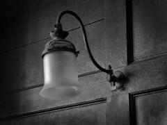 ....by Gaslight (jonnorthf64) Tags: gaslamp gaslight light old monochrome blackandwhite thechapelinthegarden chapel bridport dorset hidden history historical antique panel wood interior interesting past victorian jonnorthf64