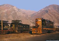Golden Hour Goodness (jamesbelmont) Tags: train railroad caboose gp9 emd provo utah yard switcher pipe