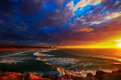 Sunset in the South-beach - Hertzelia (Lior. L) Tags: sunsetinthesouthbeachhertzelia sunset southbeach hertzelia clouds cloudysunset nature travel sea weather waves