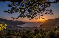 Spring sunset (Vagelis Pikoulas) Tags: porto germeno april spring 2017 canon 6d tokina 1628mm view landscape sea seascape sunburst tree nature greece europe