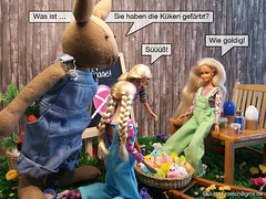Easter 2017 (alegras dolls) Tags: osterhase ostern easterbunny easter barbie fashiondoll 16scale paintedeggs chicken diorama küken