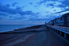 Dusk on the coastline at St Leonards on Sea, Hastings. (niknak2016) Tags: beach beacheslandscapes beachphotography coastline coast coastalphotography coastal shoreline shore stleonardsonsea hastings dusk sundown sunsetphotography sungoingdown sunset endoftheday eveningsky evening settingsun beautyinnature naturalbeauty nature natural naturephotography seashore seaside seafront scenery scenics picturesque beautifulview view