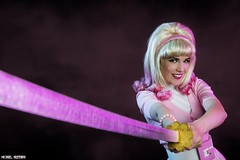 Gwen Pool... (Ring of Fire Hot Sauce 1) Tags: cosplay gwenpool toriacostuming wondercon portrait sword 50s retro pinup pink