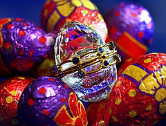 Happy Easter (johnsinclair8888) Tags: easter egg crystal colors johndavis holiday nikon sigma foil purple red yellow eggs chocolate bow shine sparkle d750