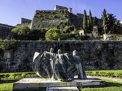 New Fortress Of Corfu (Tony Tomlin) Tags: corfu greece island ioniansea fortress bastion sculpture