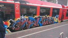 Train art (Sil En Zio) Tags: germany cologne train trainstation art simpsons police graffiti spring