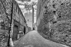 Castelvecchio (D. Lorente) Tags: dlorente bw bn buildings monocromo verona nikon nubes clouds castillo