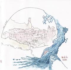 Roquebrun (Marc2joux) Tags: roquebrun orb croquis