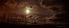 The Evening (evanffitzer) Tags: kamloops canoneos60d sillouhette panorama sun sunset clouds dark photography evanfitzer evanffitzer evening pano wide trees britishcolumbia