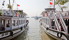 Ha Long Bay Tourboats (Johnny Peacock) Tags: asia boats halongbay hdr johnnypeacock photography seetheworld tourboats travel traverseearth vietnam water