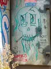 Shmoko (Steve Taylor (Photography)) Tags: yachtclub shit shmoko skull heart smoke cigarette art graffiti tag streetart spooky eerie newzealand nz southisland canterbury christchurch cbd city star