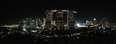 180 degree view from Supertree by Indochine. Put it on your Singapore to-do list! (soni.jayantika) Tags: singapore night nightscape cityscape city landscape 180view google travel tourism marinabaysands gardensbythebay flyer light skyline skyscraper