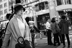 woman with a Prada handbag (vhines200) Tags: sanfrancisco 2017 unionsquare woman prada handbag portrait clochehat