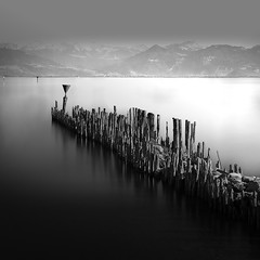 Lake Constance. Southern Germany (ernesto1de) Tags: water blackandwhite lake constance long exposure sea seascape germany monochrome snow