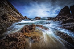 Crashing Colours (Augmented Reality Images (Getty Contributor)) Tags: canon cliffs clouds coastline colours landscape leefilters littlestopper longexposure morayfirth portknockie rocks scotland water waves