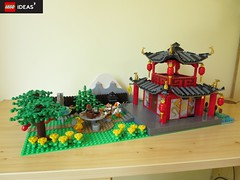 Teahouse Fox Theme from Google's Gmail (yetanothermocaccount) Tags: lego moc ninjago chinese asian tea kungfu park garden architecture ideas google gmail