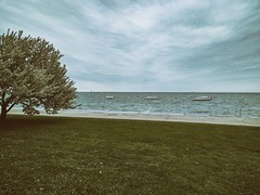 Choppy (ancientlives) Tags: chicago illinois usa travel lake lakemichigan lakefronttrail lakeshore walking streetphotography boats sailing weather nature trees landscape april 2017 sunday spring