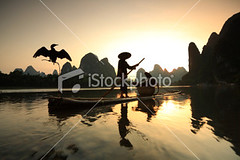 Li river Fishermen (MPBHAIBO) Tags: china morning cloud mountain reflection water fog stone sunrise river landscape dawn liriver fishing fisherman asia dusk guilin yangshuo hill cormorant    cloudscape  chineseculture  xingping ruralscene fishingindustry   karstformation chineseethnicity woodenraft  guangxiregion