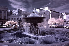 Fountain in the infrared by Mihail Lomanov! (lyudatop) Tags: winter sky clouds moscow infrared rememberthatmomentlevel1 fdutain