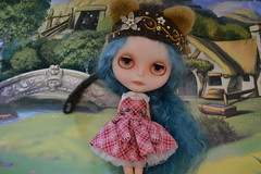 """Sadie's new dress"" sooo cute! (STOIC friends) Tags: vampire teeth sadie blythe fangs custom"