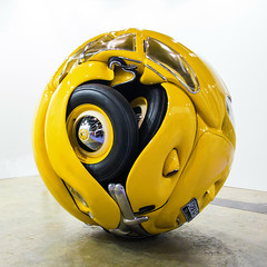 The Beetle Sphere by Ichwan Noor (Brett Jordan) Tags: china urban sculpture hk art colors yellow vw cn volkswagen photography hongkong crazy aluminum mixedmedia events fineart beetle photojournalism sphere installation creativecommons foundobjects wtf hkg journalism aluminium art1 6d penck artbasel canon1740f4l 2013 ccby seeminglee canonef1740f4lusm arpenck ralfwinkler    canon6d   smlprojects crazyisgood smlfineart smluniverse  canoneos6d smlphotography   smlevents  ichwannoor abhk SML:Projects=crazyisgood fl2fbp SML:Projects=photojournalism  SML:Projects=smlfineart artbaselhongkong2013 mondecorgallery