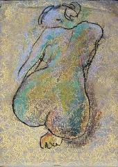 Ruby Lane      Female Nude Charcoal Pastel Drawing Julia Trops Abstract Art (WhereVintageIsKing) Tags: art vintage antique abstractart antiques vintageclothing antiquefurniture vintagejewelry vintagefashion antiquejewelry rubylane rubylanecom