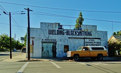 Welding-Blacksmithing (rickele) Tags: california hardware welding bolts blacksmith winters pipefitting ornamentaliron blacksmithing steelpipe andersonironwork