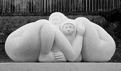 Jimenez Deredia's sculpture in Forum, Rome, Italy (dennis.mcdermott) Tags: bw italy sculpture rome blackwhite costarica forum viasacra jimenezderedia