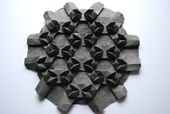 3D Tessellation (Paperitis) Tags: paper 3d triangle origami papier tessellation tessellations tesselation tesselations paperfolding trianglegrid paperitis