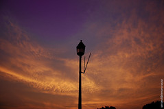 Lamp Post (shirishmulmuley) Tags: new orange india clouds nikon colours purple delhi north lamppost 70s block rashtrapati rajiv bhawan chowk