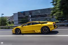 Lamborghini Murcielago on California Hwy. (I am Ted7) Tags: lamborghini murcielago yellow rollingshot hollywood freeway highway italian cars supercras exotic ted7 iamted7 canon eos 6d automotivephotographer oc orangecounty california socal