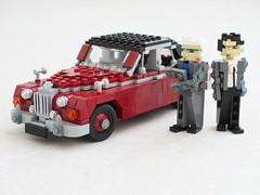 Inspector Morse Jaguar Mk II (1) (Mad physicist) Tags: lego oxford british jaguar mkii mark2 inspectormorse