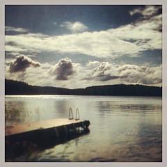 upload (pvenalainen) Tags: summer lake clouds finland square squareformat rise päijänne iphoneography instagram instagramapp uploaded:by=instagram