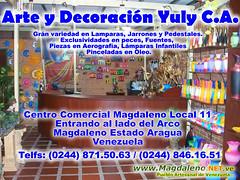 Arte y Decoracion Yuli C.A. Magdaleno (PortalMagdaleno) Tags: ceramica dragon peces fuente lampara fuentes virgen oleo lamparas virgenes elefantes jarrones unicornio aerografia pincelada pedestales