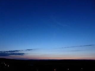 after sunset  - blue sky