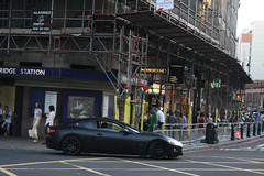 GranTurismo (michaelbham243) Tags: black london car knightsbridge expensive rare supercar maserati matte granturismo