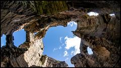 the fisheye castle.. (bevscwelsh) Tags: fisheye flintcastle sony16mm sonynex6 nprthwales