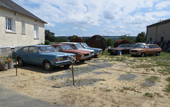 Old Ford (and others) collection (Spottedlaurel) Tags: ford capri fiesta granada taunus peugeot 104 simca