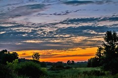 Medina Sunset (Doug Wallick) Tags: sunset hot green minnesota rural colorful day cloudy medina humid lightroom