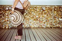 First step in Pont des Arts... (Un ragazzo chiamato Bi) Tags: paris color film 50mm f14 olympus 100 om zuiko implosion parigi pontdesarts pellicola om2n adox pontedegliartisti