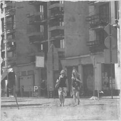tell me about it (Frank de Jol) Tags: blackandwhite streetphotography lodz